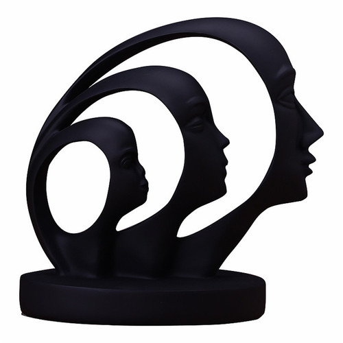 Poly Resin Abstract People Statue
