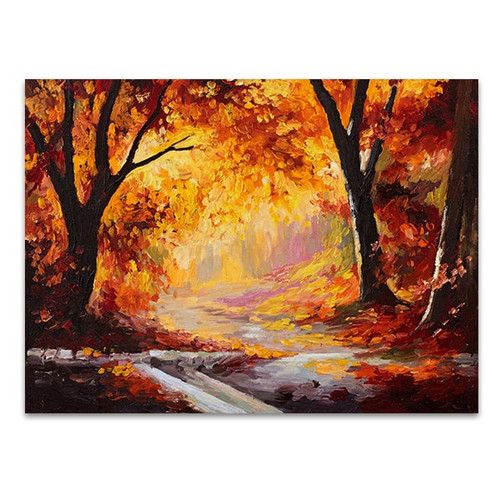 Bright Red Forest Art Print