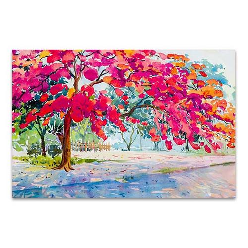 Peacock Flower Canvas