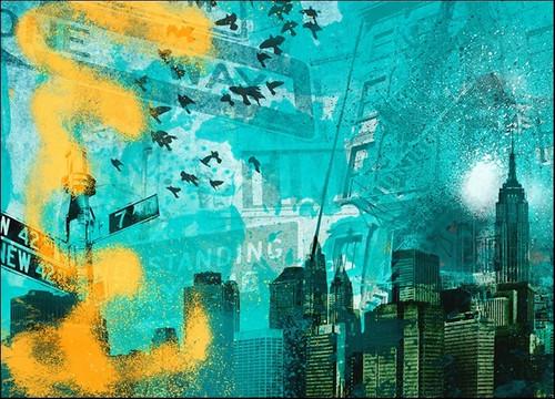 City Scrim C Wall Art Print