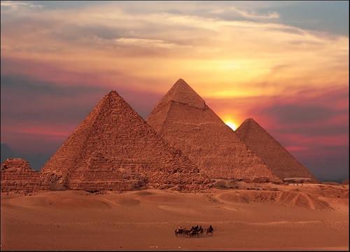 Egypt Giza Pyramids Wall Art Print