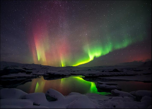 Northern Lights Aurora Borealis Wall Art Print