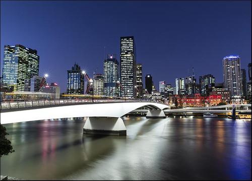 Brisbane City at Twilight Wall Art Print