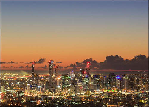 Brisbane City Sunrise Wall Art Print