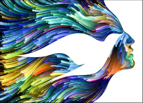Bird Woman Face Wall Art Print