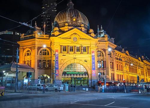 Flinders Station Melbourne Wall Art Print
