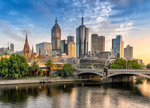 Melbourne Cityscape Wall Art Print