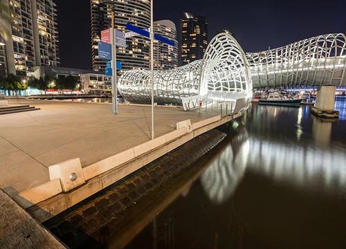 Melbourne Webb Bridge Wall Art Print