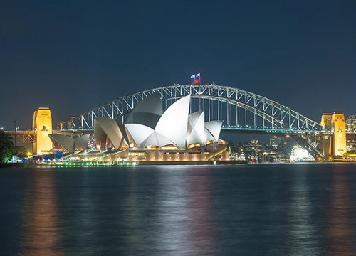Sydney Harbour Bridge at Night Wall Print