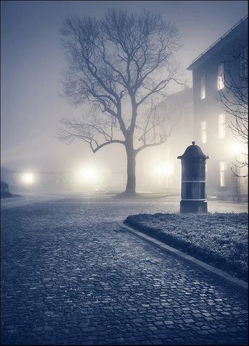 Foggy Old Town Wall Art Print