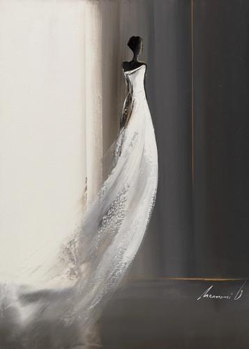 White Long Dress I Wall Art Print