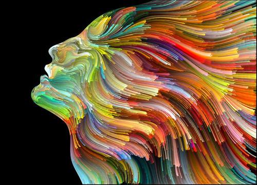 Colourful Face Wall Art Print