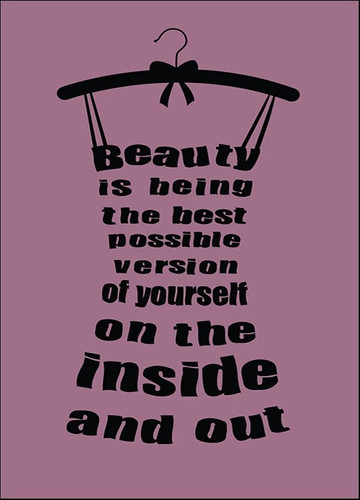 Beauty Inside and Out Wall Art Print