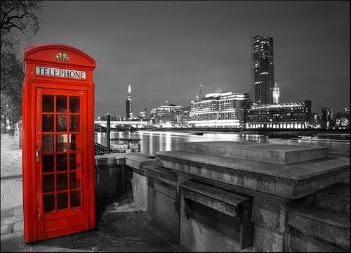 London Red Telephone Box Wall Print