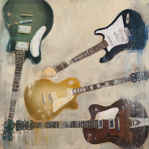 Old Electric Guitar Wall Art Print