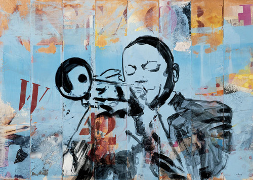 Trumpet Musician Wall Art Print