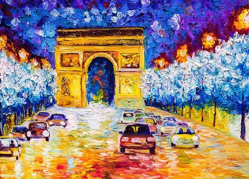 Arc De Triomphe at Paris Wall Print