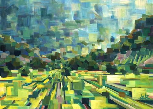 Summer Green Field Wall Print