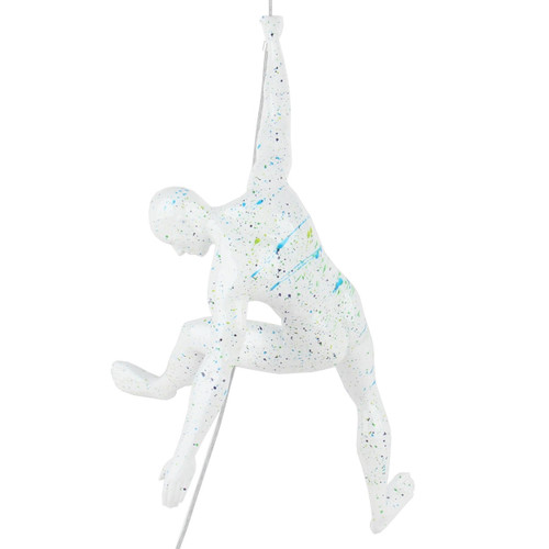 Poly Resin Climbing Man