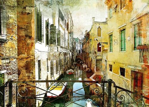 Venice Italy Gondolas Wall Print