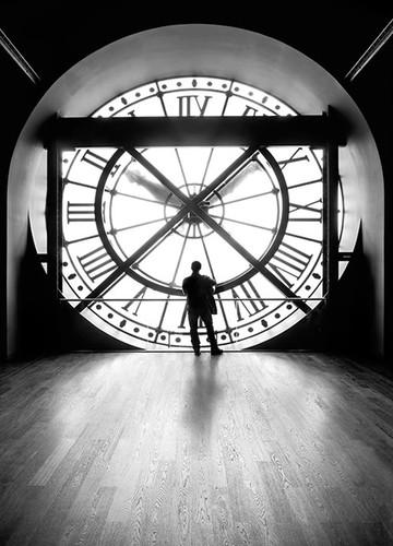 Clock of Orsay Museum II Wall Print