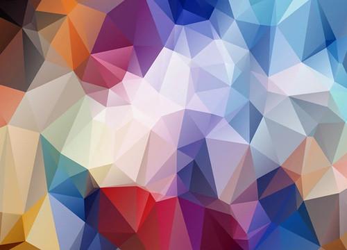 Geometrical Rainbow Wall Art Print