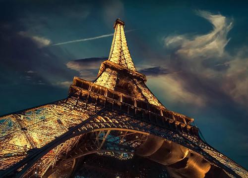 Eiffel Tower at Night Wall Art Print