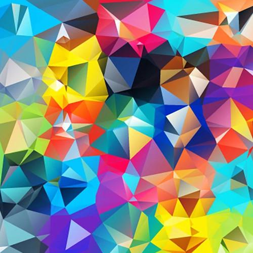 Digital Geometric Wall Art Print