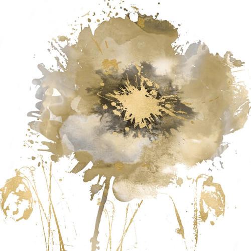 Flower Burst in Gold II Wall Art Print