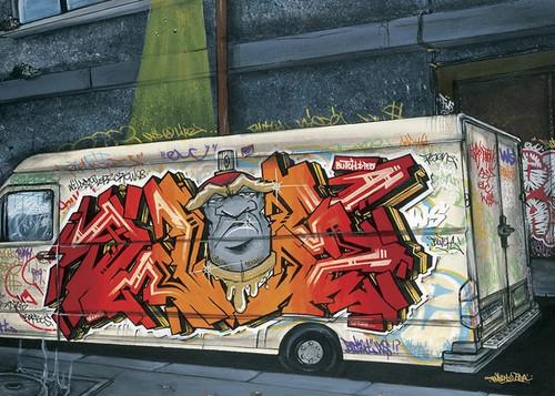 Funky Truck II Wall Art Print