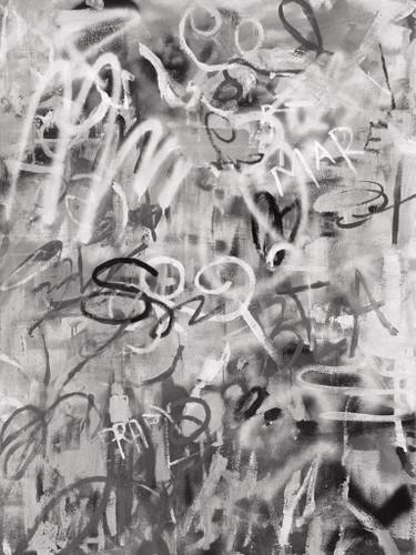 Graffiti Love Monochromatic Wall Art Print
