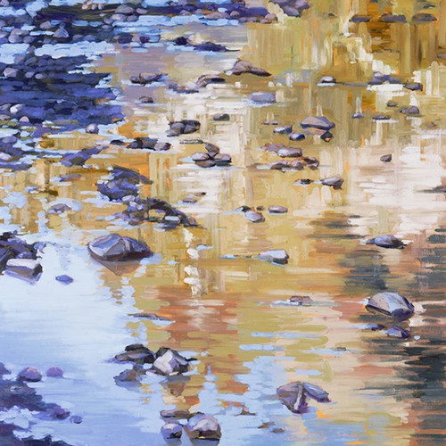 River Rocks and Reflections I Wall Art Print