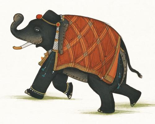 India Elephant II Wall Art Print