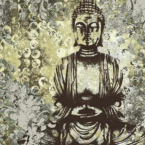 Water Garden Buddha Wall Art Print