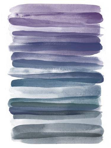Watercolor Stripes B Wall Art Print