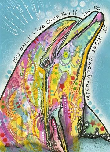 Marine Dolphin Wall Art Print