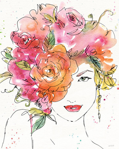 Floral Figures IV Wall Art Print