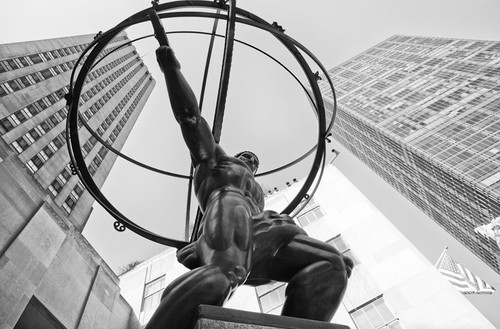 Atlas Statue Rockefeller Center Wall Art Print