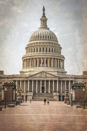 Washington DC Vintage Capitol Wall Art Print