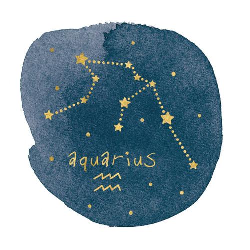 Horoscope Aquarius Wall Art Print
