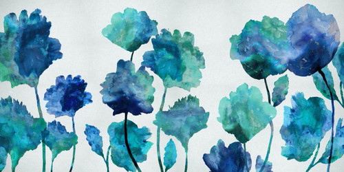 Aqua Blossom Wall Art Print