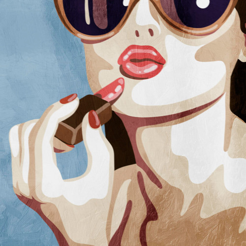 Fashionable Kiss I Wall Art Print wall 1