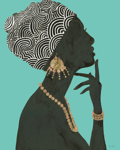 Graceful Majesty I Turquoise Wall Art Print