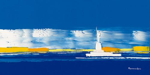 New York in Blue Wall Art Print