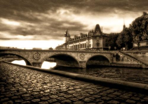 Bridge on The Seine Wall Art Print
