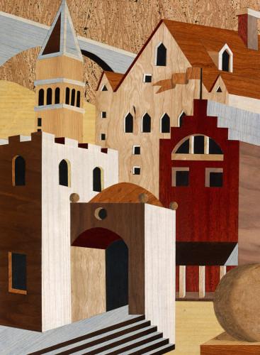 Village Scenery II Wall Art Print