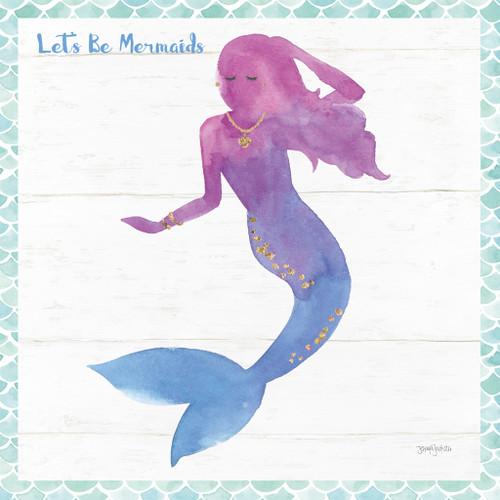 Mermaid Friends III Lets Be Wall Art Print