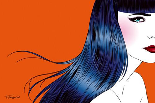 Blue Hair Wall Art Print