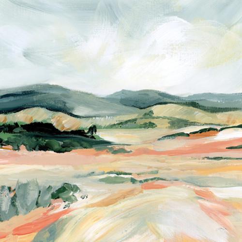 Vermillion Landscape I Wall Art Print
