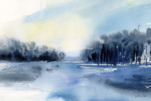 Winter River Wall Art Print